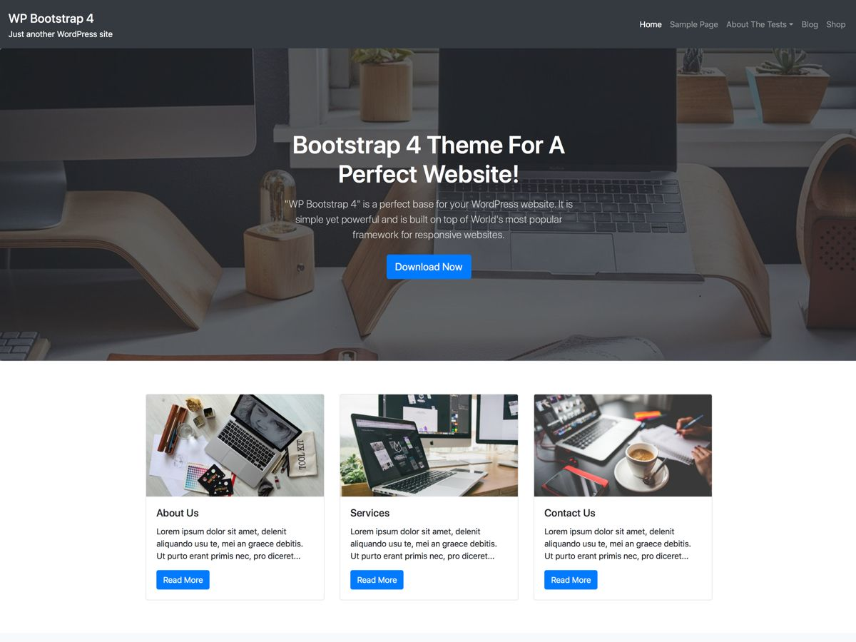 wp bootstrap 4 pro